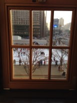 View from former mayor's office.