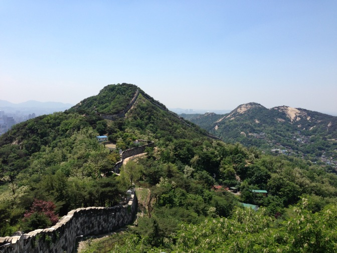 Hiking Under Surveillance along Seoul Fortress Wall